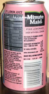 minute maid lemonade pink 355ml made