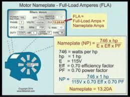 motor nameplate full load eres fla