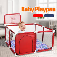 Baby Playpen Interactive Kids Play Playard Ocean Ball Safety Gate 4 Panel Fence Walmart Com Walmart Com