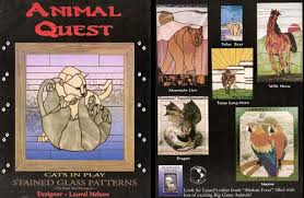 animal quest stained glass pattern book