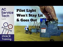 pilot light goes out won t stay lit