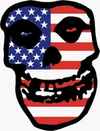 Square Deal Recordings And Supplies The Misfits Crimson Ghost Skull With American Usa Flag Sticker Decal Wantitall
