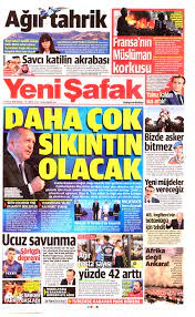 Yeni Şafak Gazetesi Manşeti - 13 Eylül 2020 Pazar