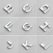 Car Truck Graphics Decals 0 9 A Z Alphabet Letters Car Sticker Self Adhesive Auto Badge Emblem 3d Chrome Auto Parts And Vehicles