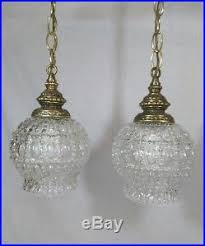 vintage swag double globe pendant light