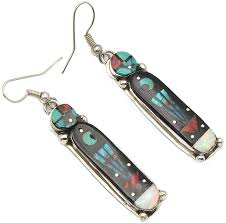 Amazon.com: Intricately Inlayed Earrings by Gilbert Smith: Jewelry