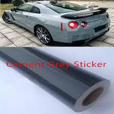 Glossy Cement Grey Gray Vinyl Wrap Film Car Styling Car Decal Sticker Vinyl Cover Decal Sheet Car Sticker Accessory Styling Car Auto Carvinyl Auto Aliexpress