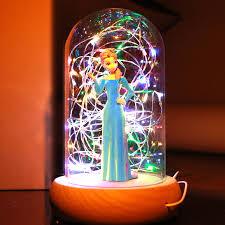 rapunzel princess lamp glass dome