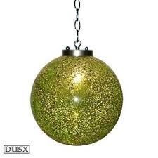 crystal glass green pendant globe ball