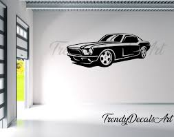 Mustang Decal Car Wall Decal Car Wall Vinyl Sticker Man Etsy