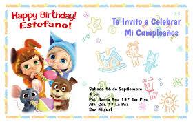 Tarjeta De Invitacion De Cumpleanos Estefano 2 Anos Hacer