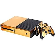 Amazon Com Skinown Xbox 1 Golden Skin Gold Sticker Vinly Decal Cover For Xbox One Xb1 Console And 2 Controller With 1 Kinect Skins Computers Accessories