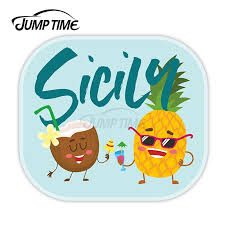 Jump Time Sicily Vinyl Stickers Italy Travel Fun Sticker Laptop Luggage Jdm Decal Car Wrap Bumper Trunk Truck Graphics Car Stickers Aliexpress