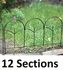 12 Panacea 89393 14 X 18 Black Metal Triple Stalk Garden Edge Border Fencing 93432893937 Ebay