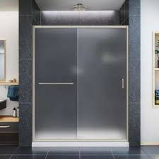 frosted shower doors showers the