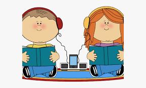 Stories Clipart Listening - Audio Books Kids , Transparent Cartoon ...