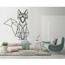 Tribal Fox Wall Stickers Geometric Fox Animal Wall Decal Vinyl Art Home Decoration Living Room Nursery Room Sticker Decals G241 Wall Stickers Aliexpress