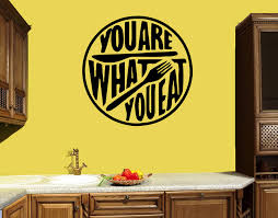 Wall Decal Quote Kitchen Words Phrase Cafe Restaurant Food Vinyl Stick Wallstickers4you