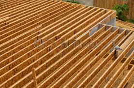 engineered wood floor joist on a new