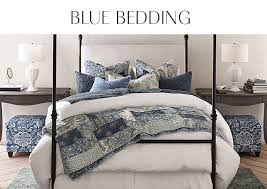 blue bedding pottery barn