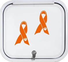 2x Animal Cruelty Awareness Ribbon Decal For Car Truck Suv Van Shelter Dog Cat For Sale Online Ebay