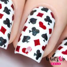 playing cards stencils for nails nail