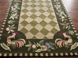 rooster kitchen rugs hooked slice rug