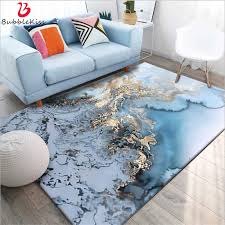 Bubble Kiss Carpets And Rugs For The Living Room Abstract Art Sky Blue Sea Water Gold Rugs Carpet Kids Room Non Slip Floor Mat Carpet Aliexpress