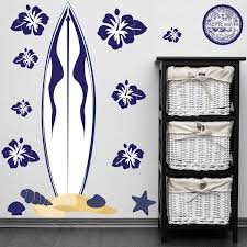 Shop Peel Stick Big Blue Surfboard Wall Decal Overstock 8935952