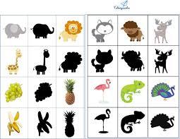 Trò chơi cho bé 1 Bộ tranh tìm bóng con vật, đồ vật