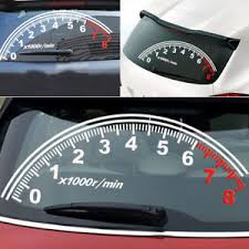 Window Rear Windshield Reflective Speedometer Tachometer Decal Sticker Universal Ebay