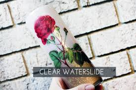 Red Rose Waterslide Decal For Glitter Cup Ready To Use Etsy In 2020 Glitter Cups Beauty And The Beast Red Roses
