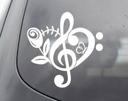 Music Car Decal Etsy