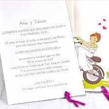 Invitacion Boda Motoristas