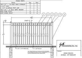 Jerith Aero Doria Aluminum Fence Panel 54h Fencetown