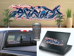 New England Patriots Graffiti Vinyl Bumper Laptop Wall Decor Etsy