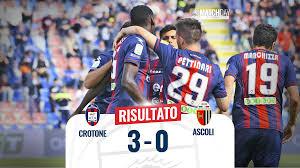 Serie BKT, 38a giornata: Crotone-Ascoli 3-0