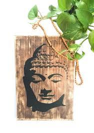 buddha wall art on solid wood wooden
