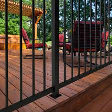 2 X 60 Black Square Steel Fence Post With Flange At Menards