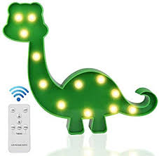 Amazon Com Light Up Dinosaur Toys Led Kids Night Lights With Wireless Remote Control For Boys Bedroom Decor Birthday Gifts Green Dinosaur Home Improvement