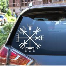 Vegvisir With Runes Permanent Vinyl Decal Nordic Compass Etsy
