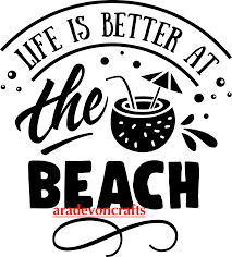 Life Is Better At The Beach Car Decal 6 3 X 5 7 Aradevon Crafts Online Store Powered By Storenvy