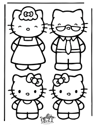 Kleuren Nu De Hele Familie Hello Kitty Kleurplaten