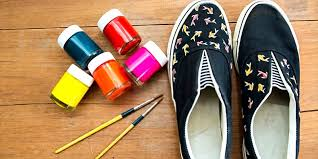 acrylic paint from ing on shoes