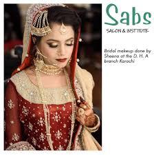 sabs salon karachi bridal makeup