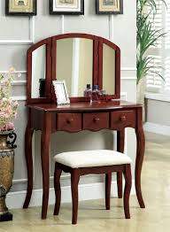 wooden makeup vanity table with lights