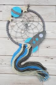 Rocket Dreamcatcher Kids Room Dream Catcher Etsy