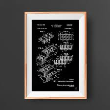 Lego Block Patent Poster Toy Kids Room Wall Art Lego Etsy