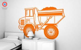 Dump Truck Xxl Wall Decal Nursery Kids Rooms Wall Decals Boy Room Wall Stickers Baby Wall Decals And Wall Decors