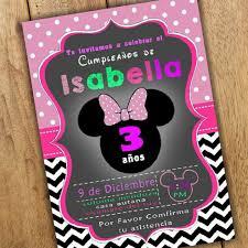 Tarjetas De Invitacion Para Cumpleanos Imprimibles Minnie